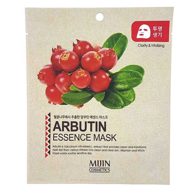 Маска для лица тканевая арбутин ARBUTIN ESSENCE MASK 25гр