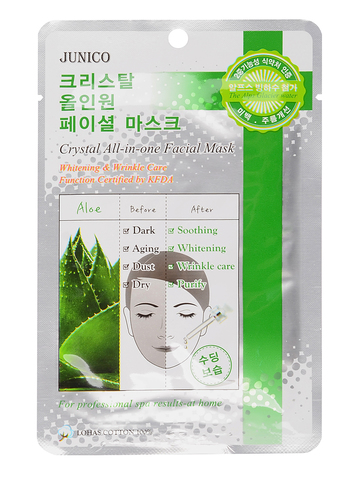 Маска тканевая c алоэ Junico Crystal All-in-one Facial Mask Al