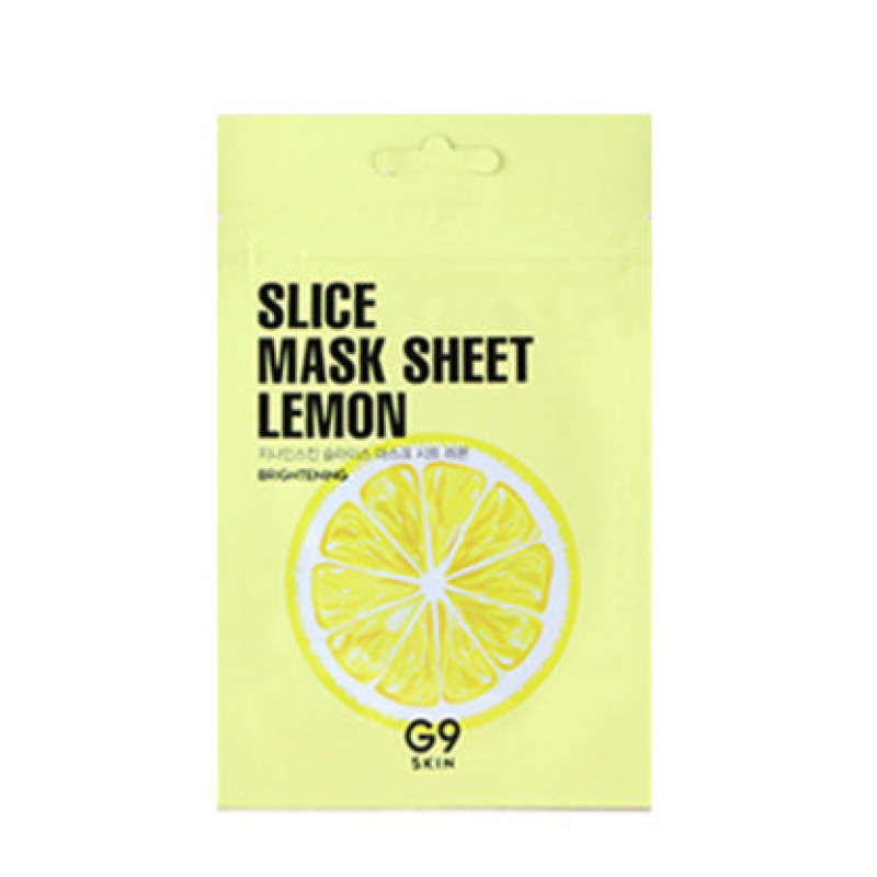 Маска-слайс для лица тканевая осветляющая G9 Slice Mask Sheet - Lemon 10мл